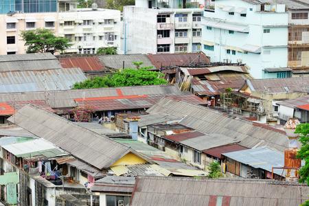 underprivileged: Area Slum in Thailandia Archivio Fotografico