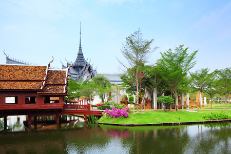 Traditional thai style house photo