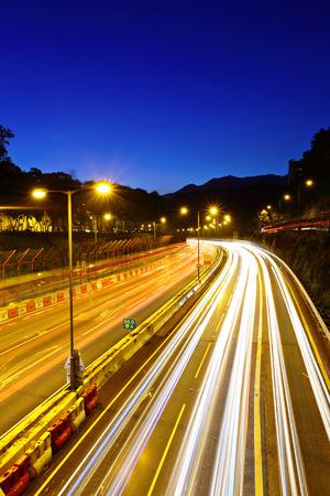 express lane: Urban highway at night