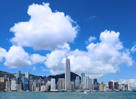 Hong Kong skyline at day time photo