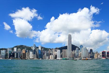 昼は Hong Kong 市 写真素材