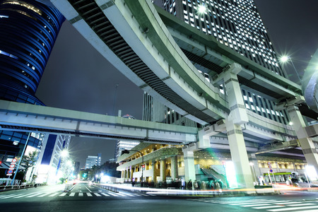 Tokyo city road at night