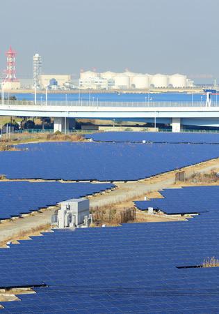 Solar panel station photo