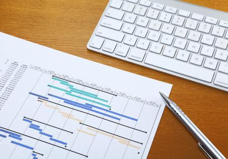 Gantt chart and keyboard photo