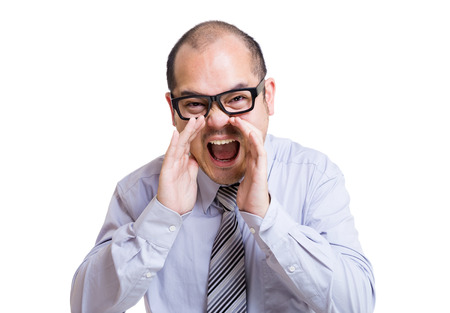 Businessman shouting photo
