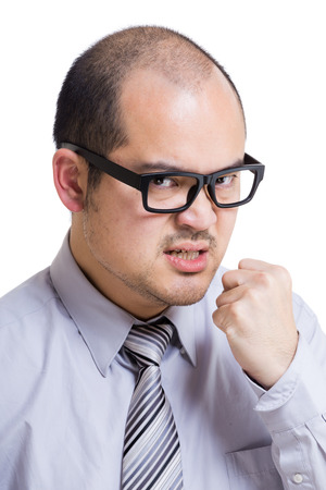 Asia businessman feel angry photo
