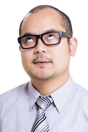 speechless: Asia businessman speechless  Stock Photo
