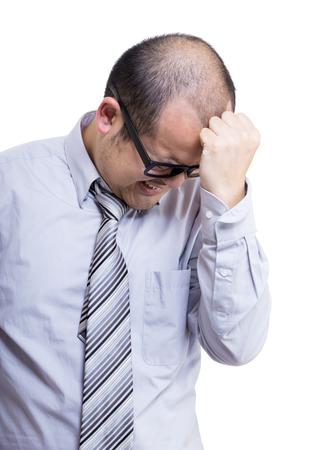 Asia businessman headache Stock Photo