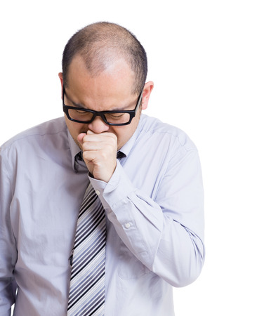 Asian businessman cough photo
