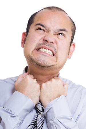 suffocate: Businessman feel suffocate