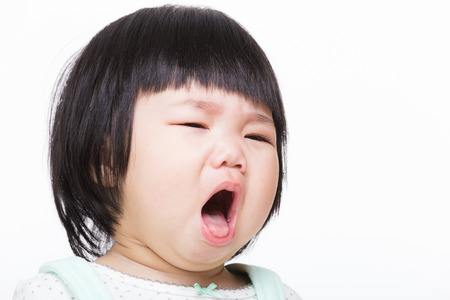 Asia baby girl cough photo