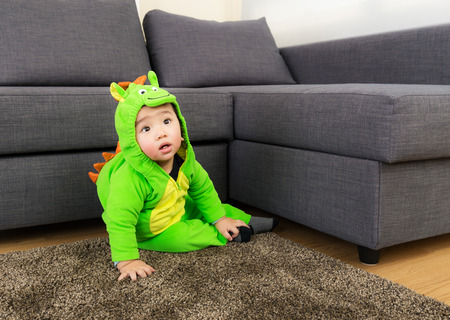 Baby with halloween party costume photo