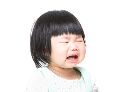 Asian baby girl crying photo