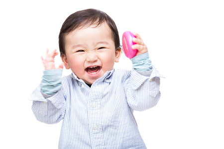 Asian baby screaming photo