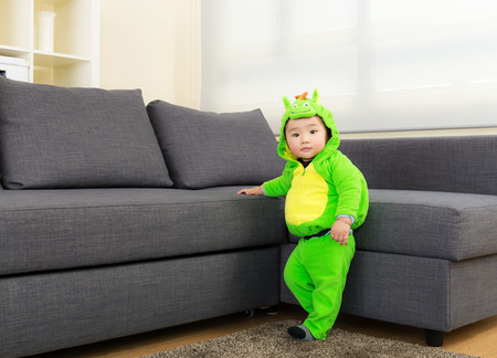 Baby boy with halloween party costume photo