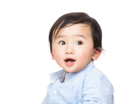 Asia baby boy portrait photo