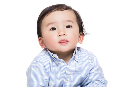 Asian baby boy isolated photo