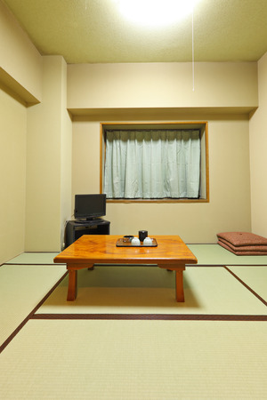 Traditional japanese style home, Tatami  photo