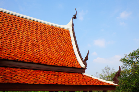 Roof eaves of temple photo