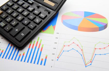 Data chart with calculator photo
