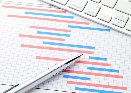 Project management with gantt chart photo