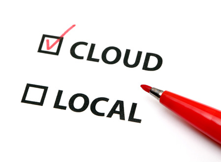Data storage in cloud or local photo