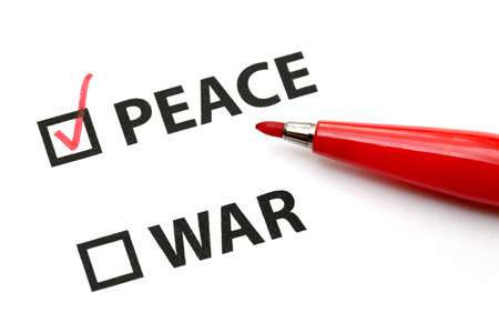 Peace or war photo