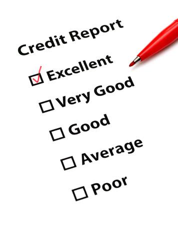 credit report: Credit report Stock Photo