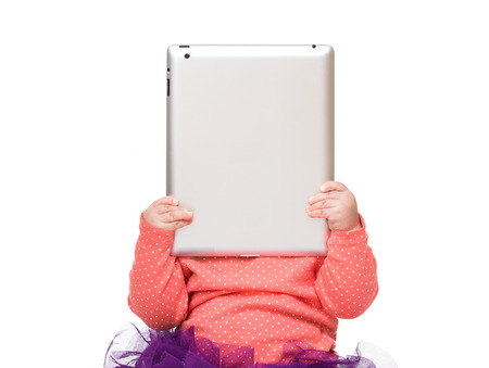 Baby additict to digital tablet