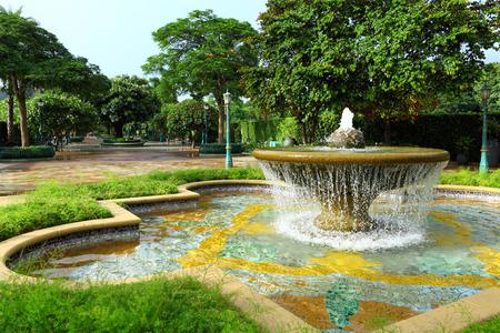 water fountain: Water fountain in garden