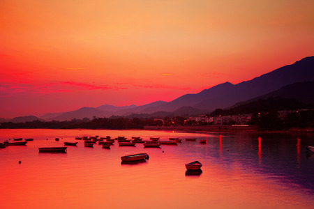 Sunset seascape photo