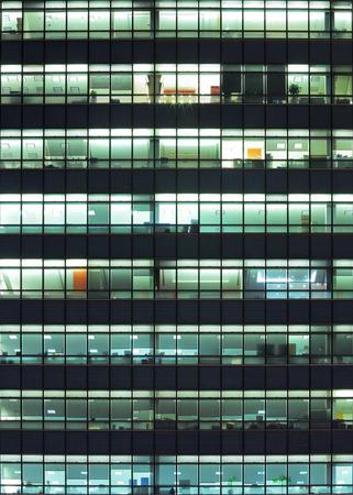 Modern building at night photo