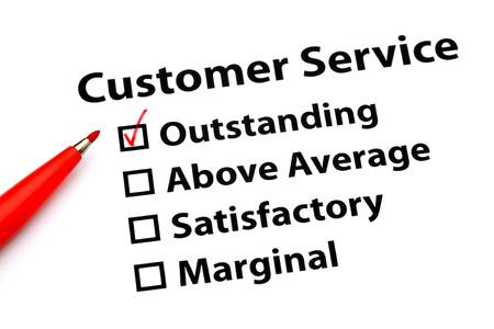 Customer service performance form photo
