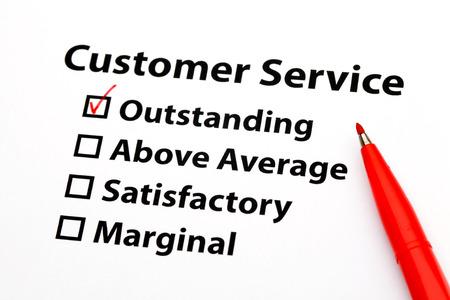 performance appraisal: Customer service performance appraisal Stock Photo