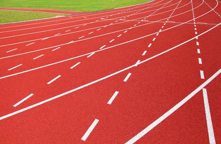 Red running track photo