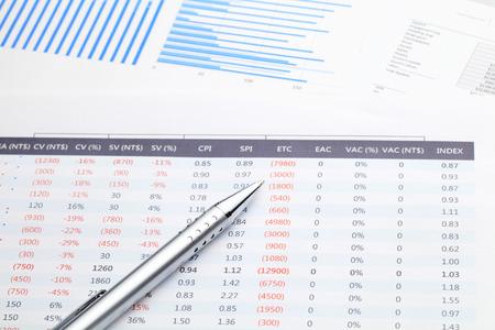 Gegevens spreadsheet Stockfoto
