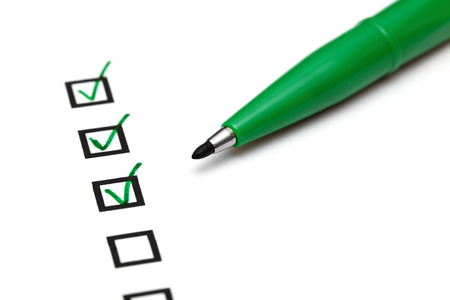 green tick: Checkbox with green tick
