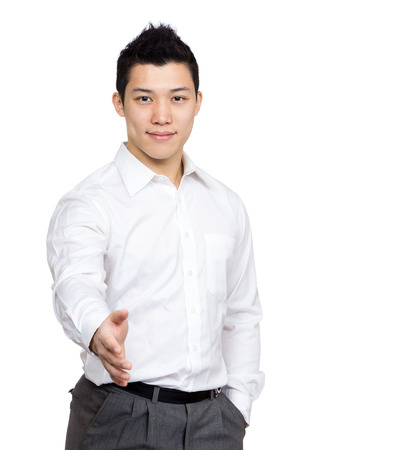 formal clothing: Businessman want to hand shake