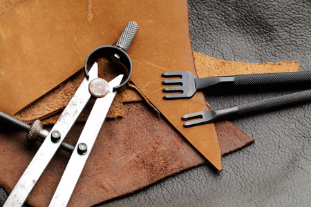 Homemade leathercraft equipment photo