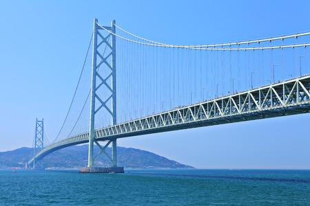Hängebrücke in Kobe Standard-Bild