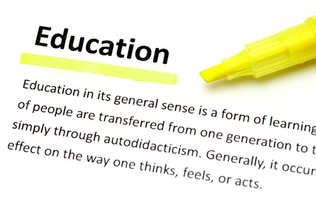 Definition of education Stock Photo
