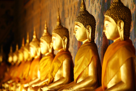 Golden buddha in temple Stock Photo