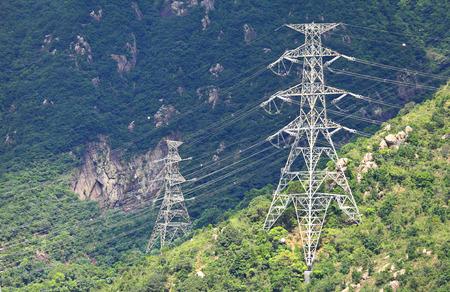 electrics: Powerline on mountain