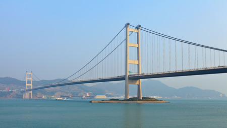 Cable bridge in Hong Kong photo