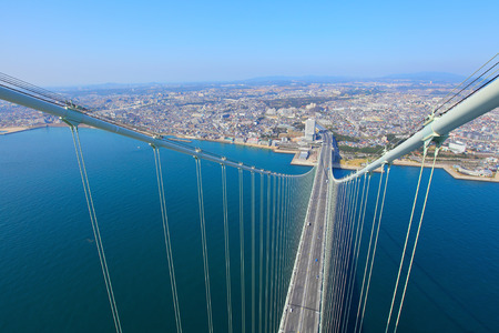 Akashi Kaikyo Bridge in Kobe photo