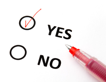 Yes or no checkbox photo