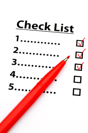 Checklist with number photo