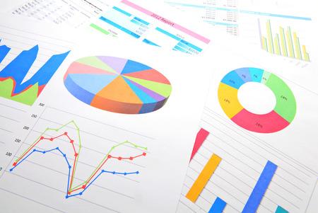 グラフィカルなチャート分析 写真素材