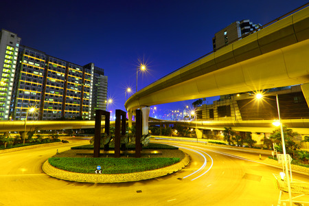 Road junction with freeway photo