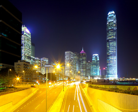 Hong Kong cityscape and roadway photo